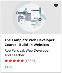 The Complete Web Developer Course – Build 14 Websites by Rob Percival