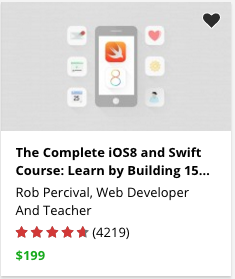 The Complete iOS8 and Swift Course: Learn by Building 15 Real World Apps by Rob Percival
