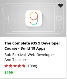 The Complete iOS 9 Developer Course - Build 18 Apps by Rob Percival