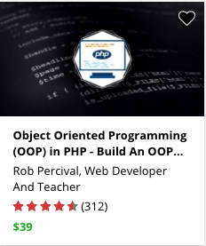 Object Oriented Programming (OOP) in PHP - Build An OOP Site by Rob Percival