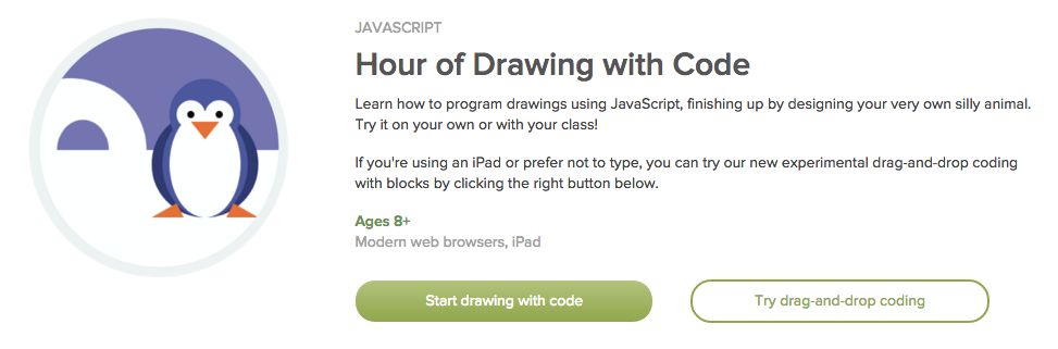 Javascript Hour Of Drawing With Code Khan Academy