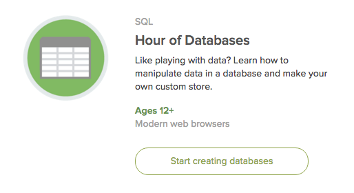 Khan Academy Hour of Databases SQL Course