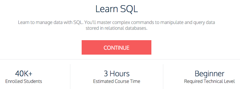 Codecademy SQL Course