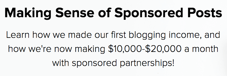 Making Sense of Sponsored Posts