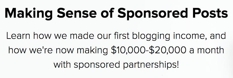 Making Sense of Sponsored Posts